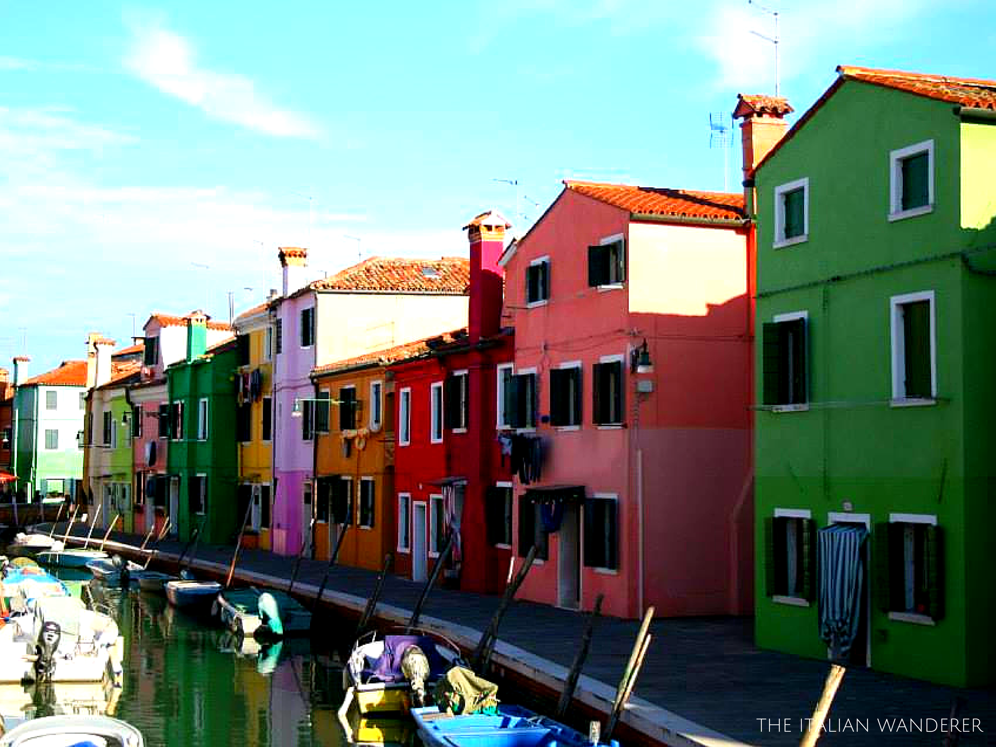 The colorful streets of Burano