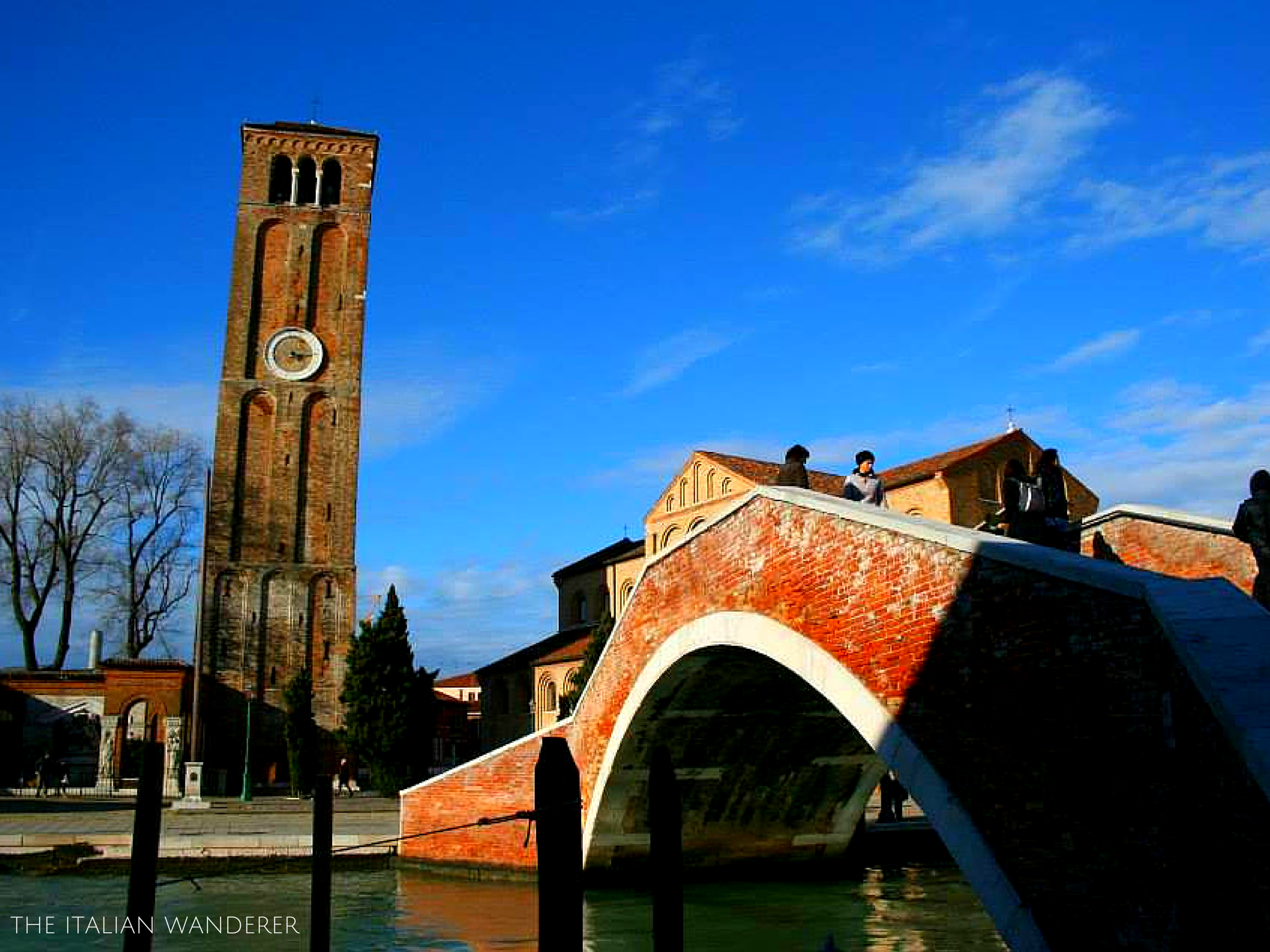 The Leaning bell tower of Burano
