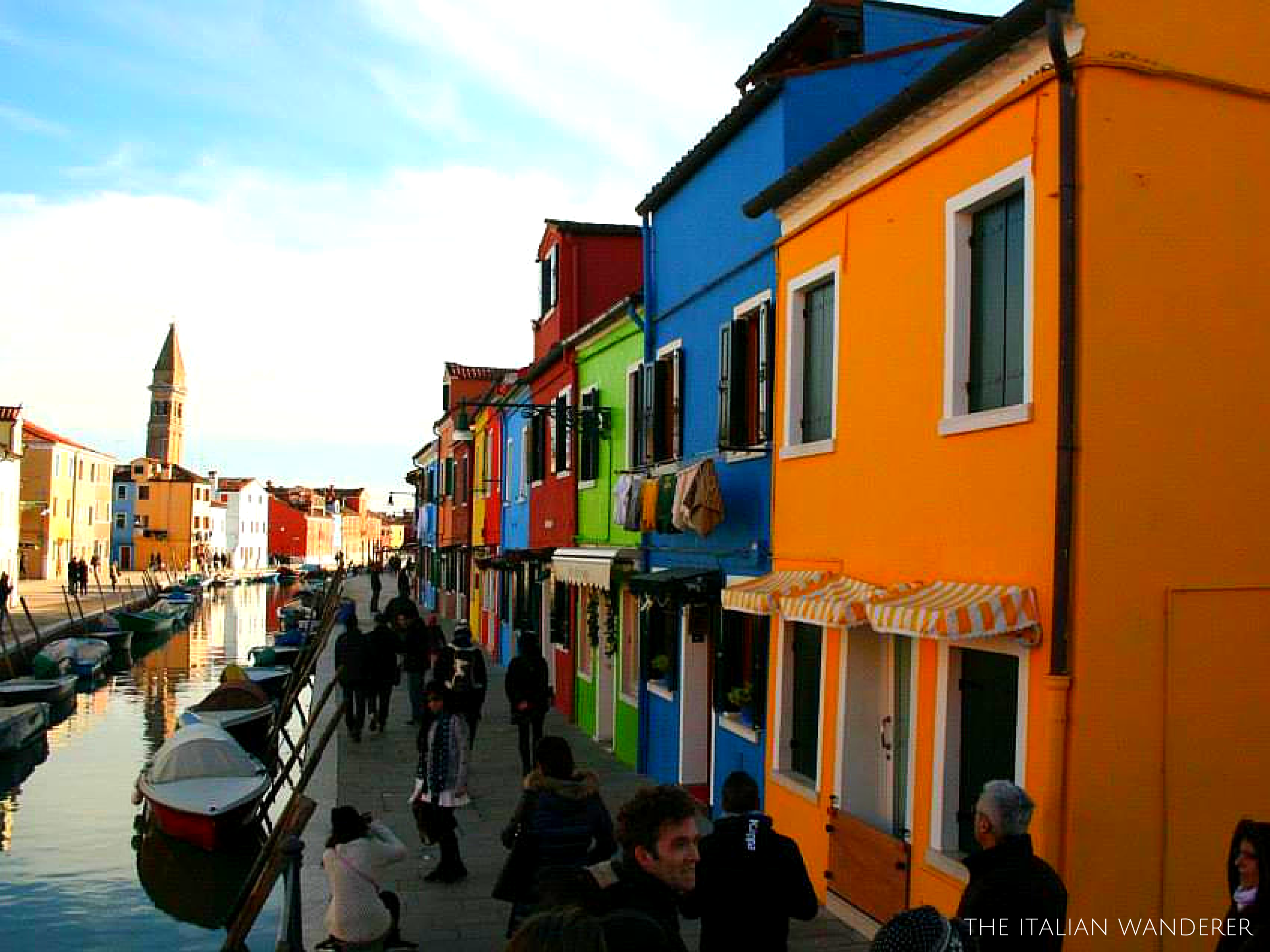 Burano, its colored houses are a joy for the eyes.