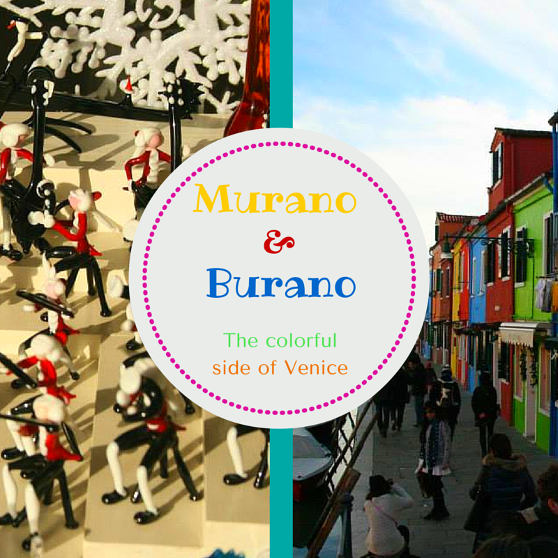 Murano and Burano, the perfect Venetian day-trip discoverin handmade glass and lace and colorful houses.
