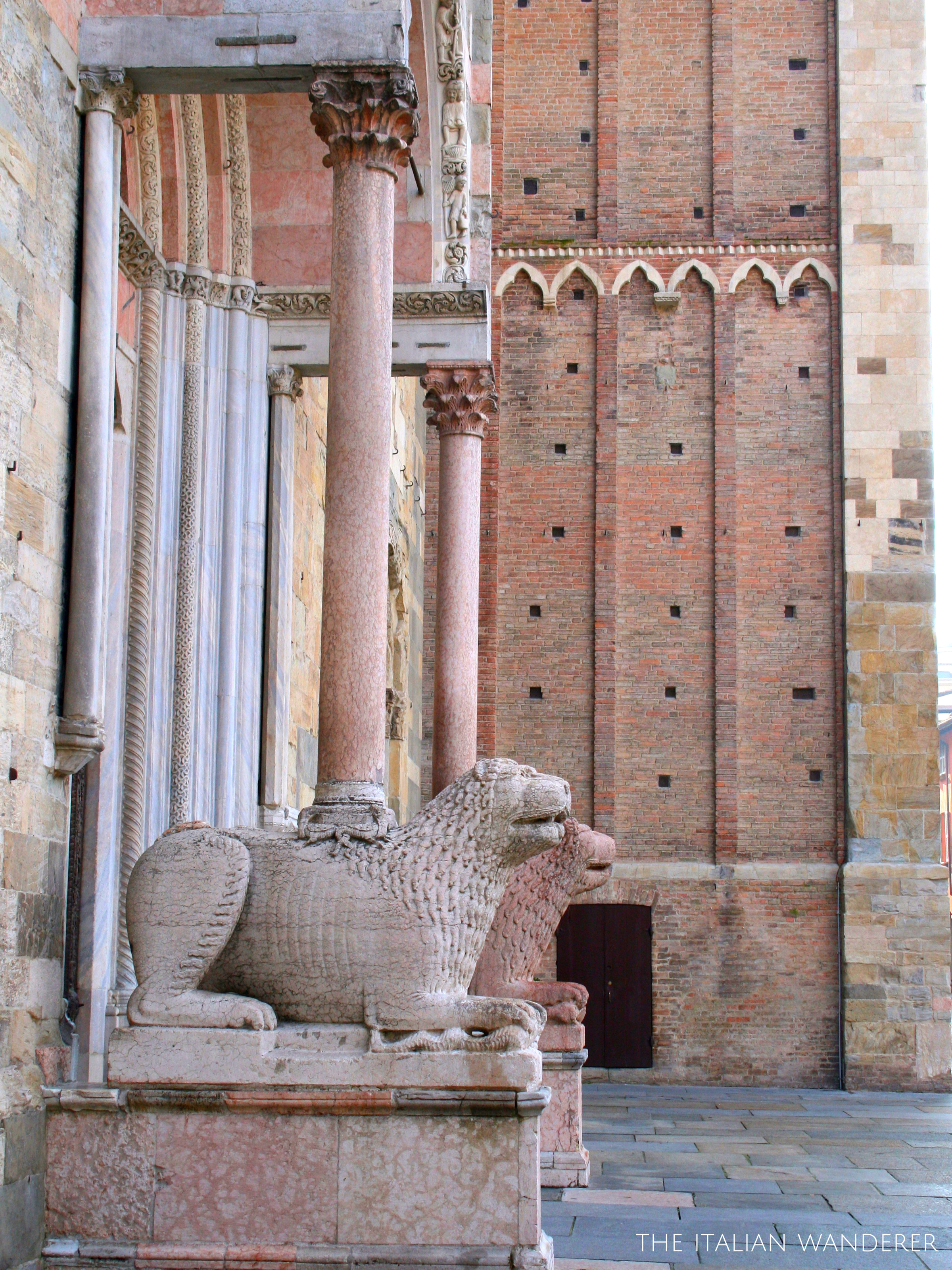 Entrance of the Cathedral of Parma