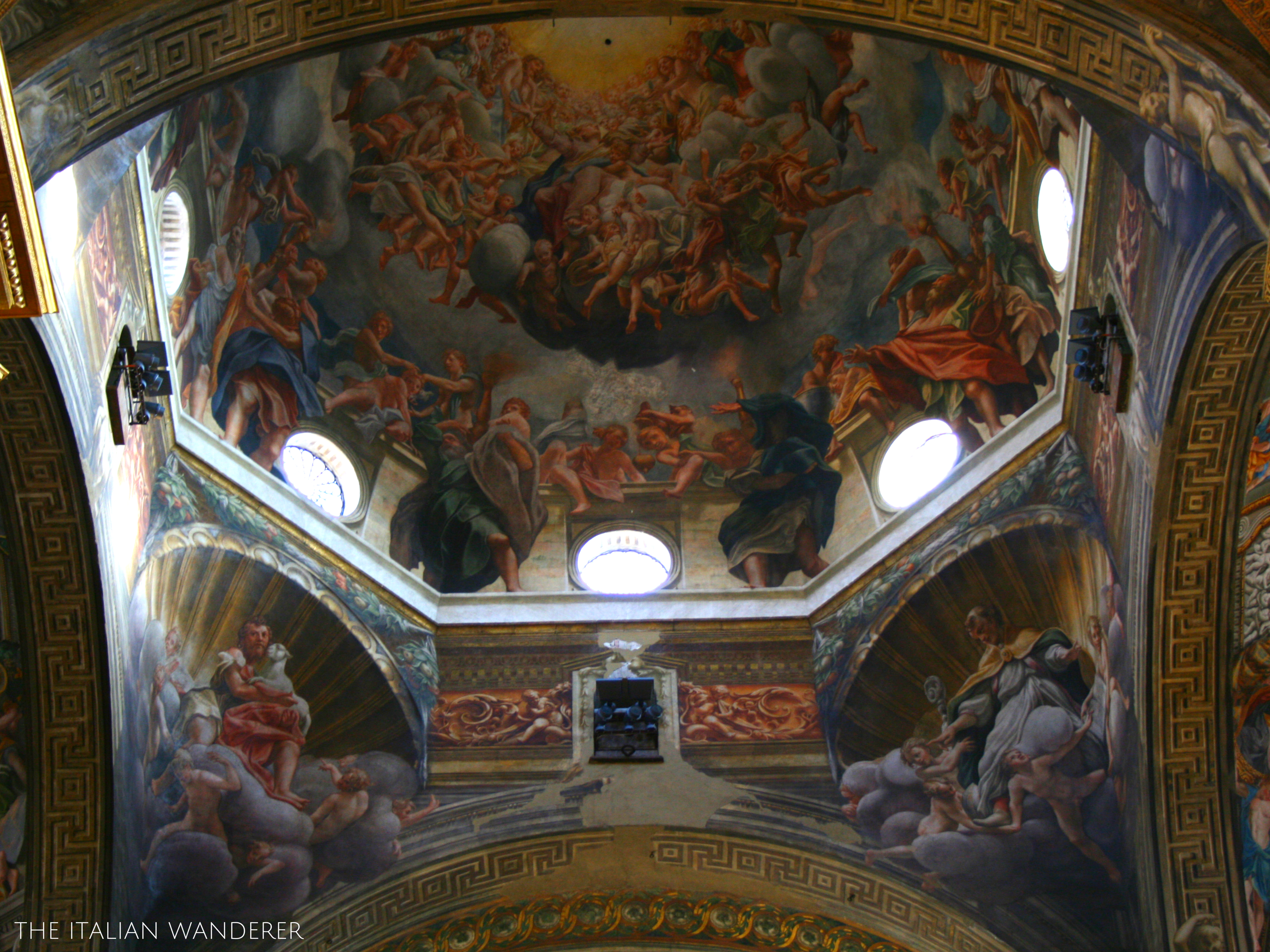 The interiors of Parma's Cathedral