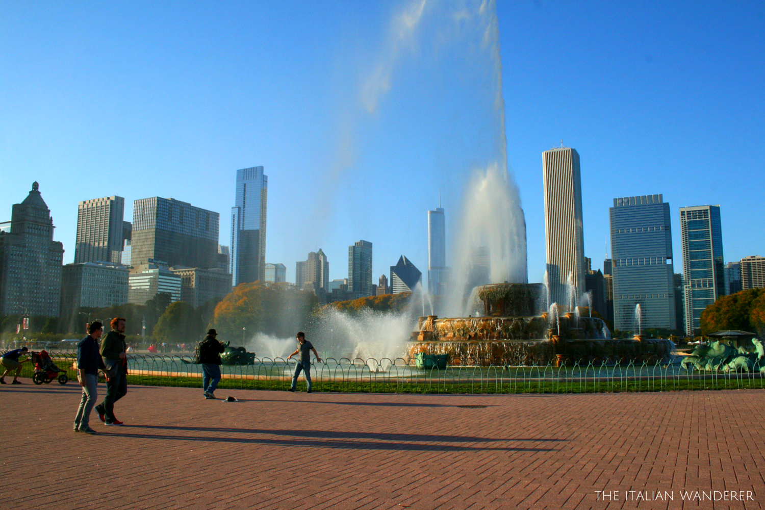 Chicago, the skyline from Buckingham Fountain