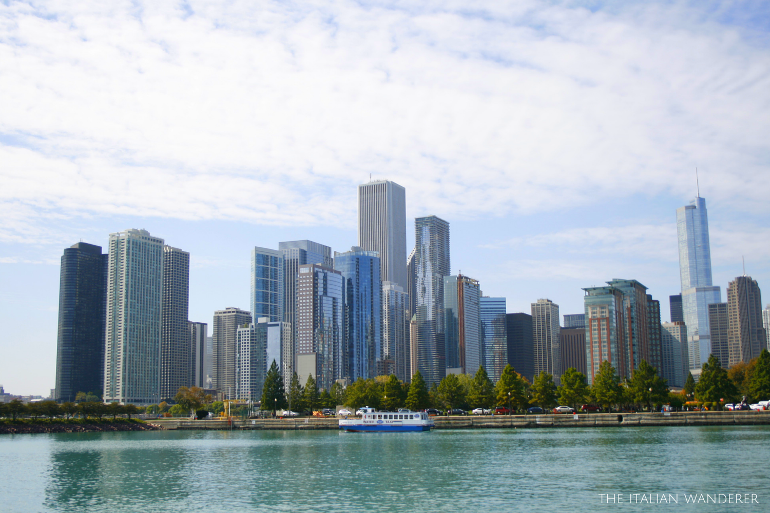 Chicago, the view from Lake Michigan