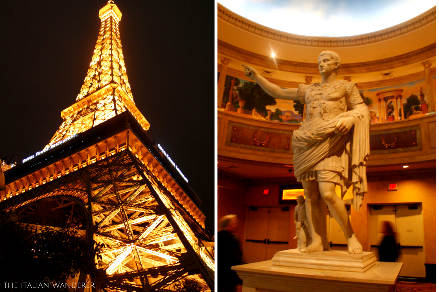 Details of Las Vegas' casinos: Paris and Ceasar's Palace