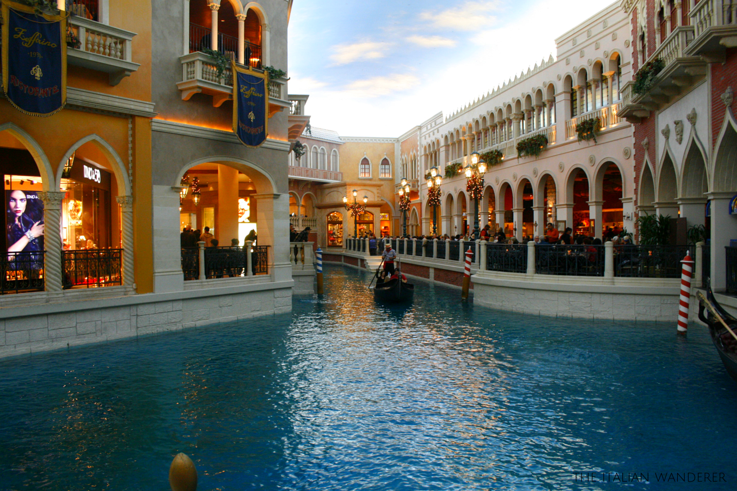The canals of the Venetian Casino