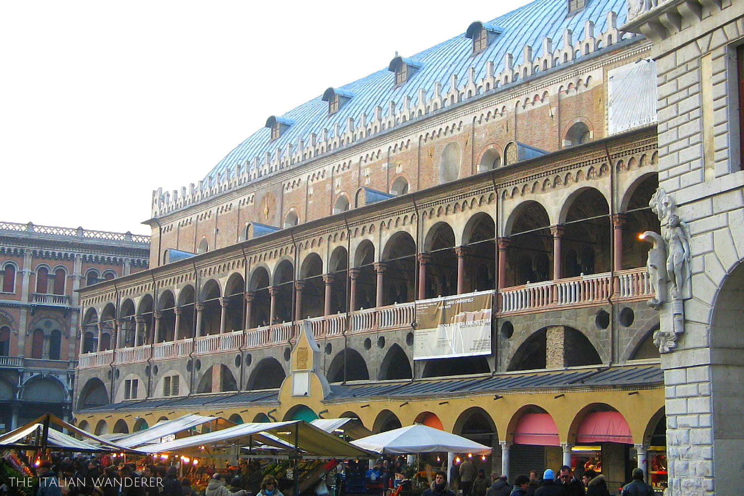 Padua, outside Palazzo della Ragione. The upper part of the building is the biggest pensile room of the world!