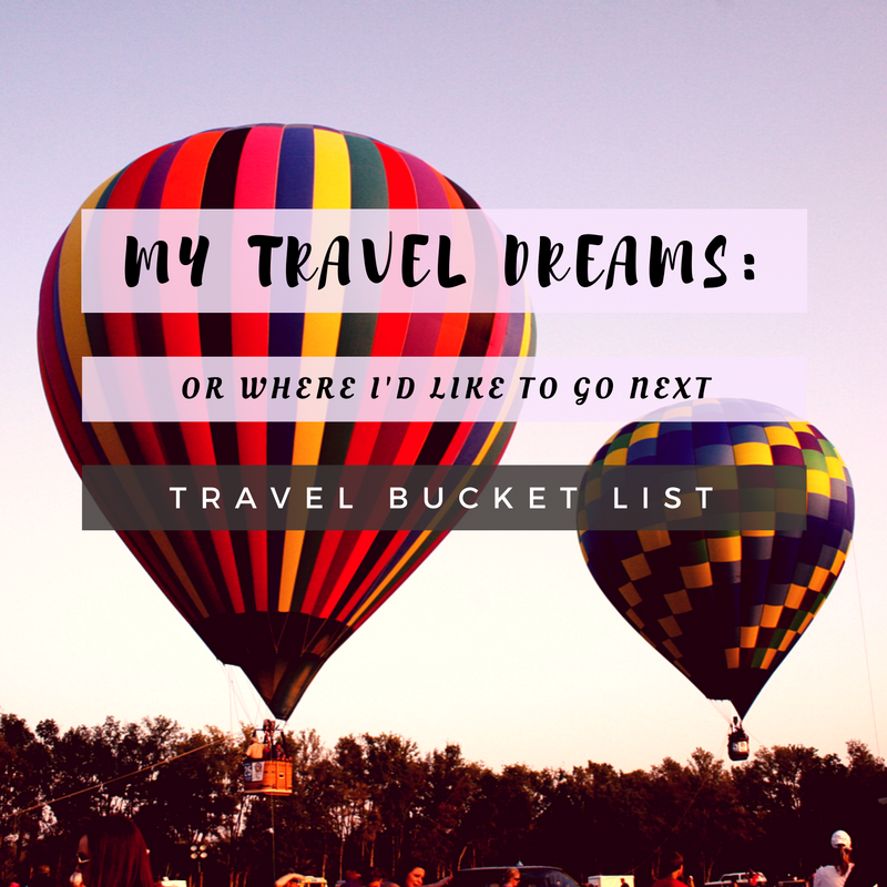 Travel Dreams, my travel bucket list