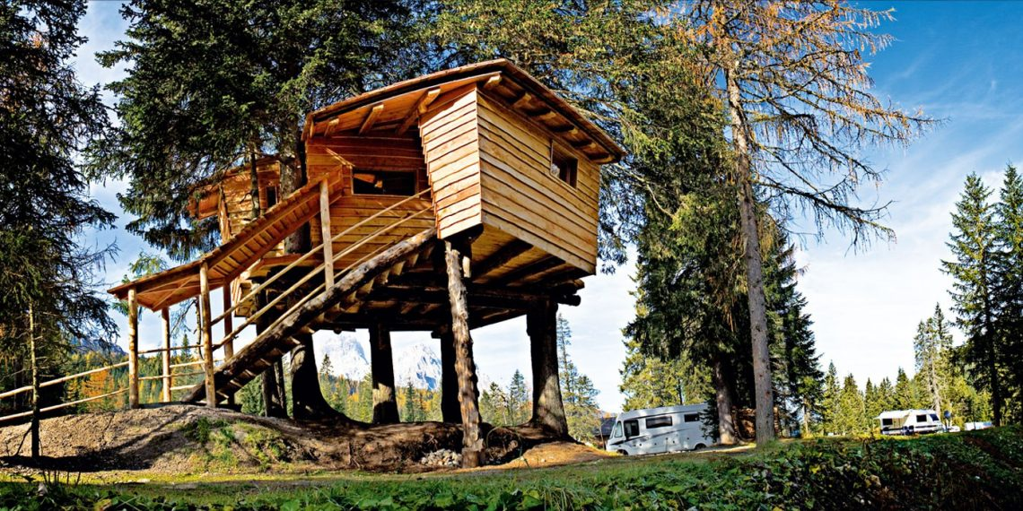 Treehouse in Italy - Caravan Park Sexten | The Italian Wanderer