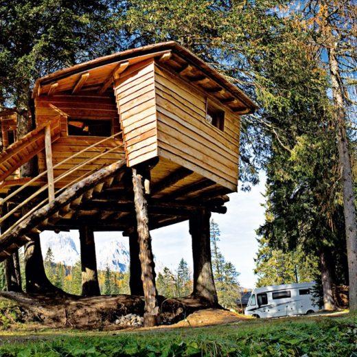 Treehouse in Italy - Caravan Park Sexten | The Italian Wanderer